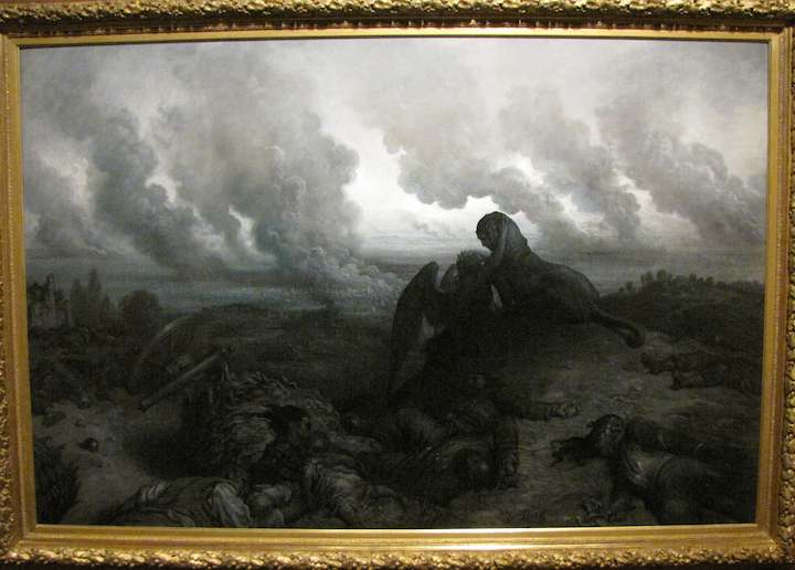 photo of painting by Gustave Dore, The Enigma