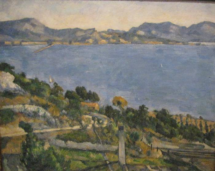 photo of paining by Paul Cézanne: The Bay of Marseille seen from L'Estaque
