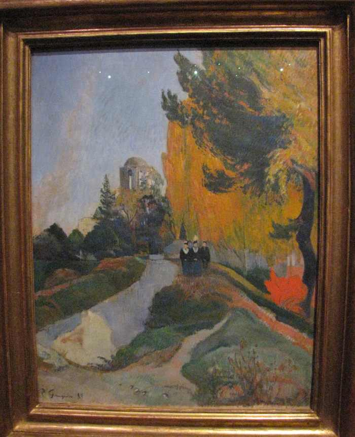 photo of painting by Paul Gauguin: Les Alyscamps