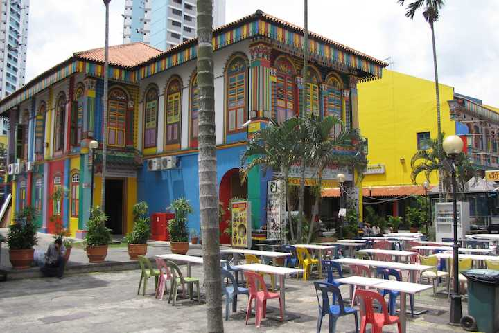 photo of a Colorful Building in Little India