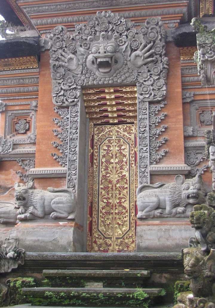 Intricate carving, Pura Dalem Agung, Indonesia