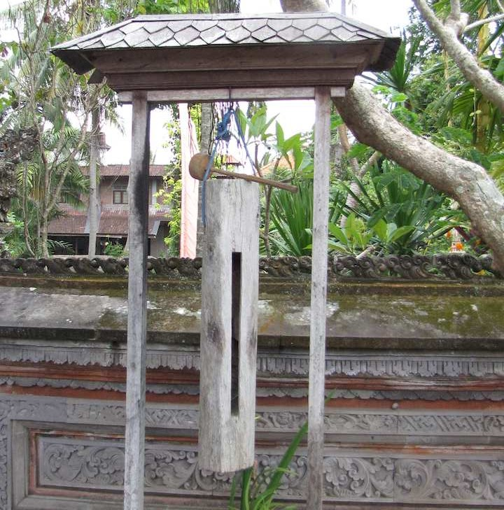 photo of wooden bell