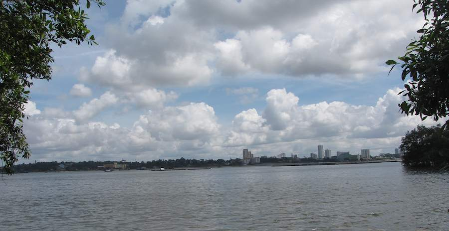 View of Johor Bahru from the Sungei Buhlu Wetlands Reserve, Singapore